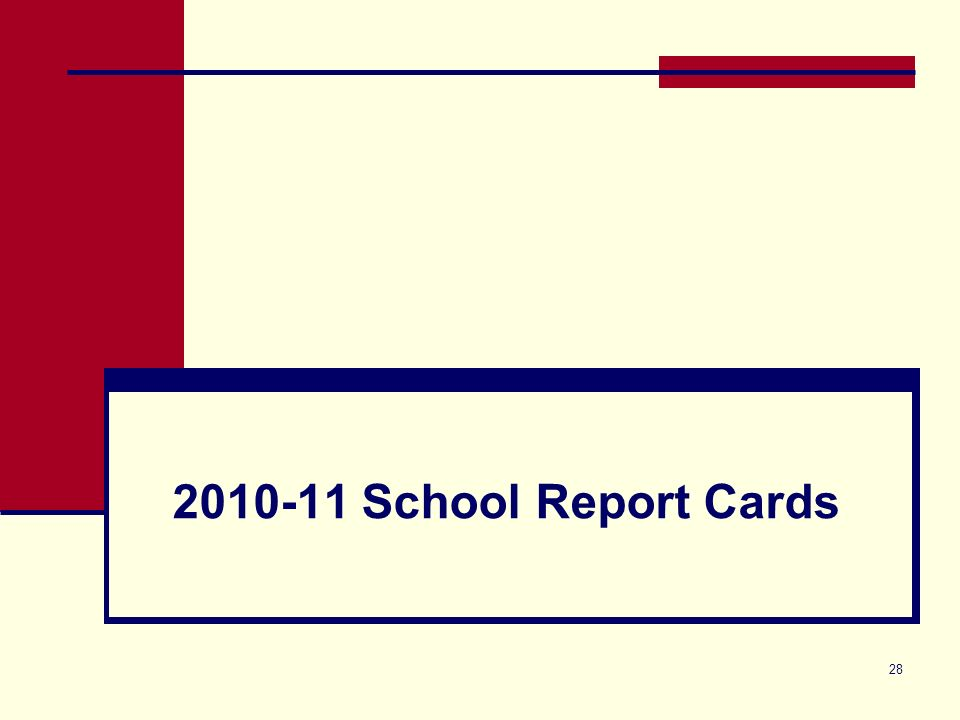 28 2010-11 School Report Cards