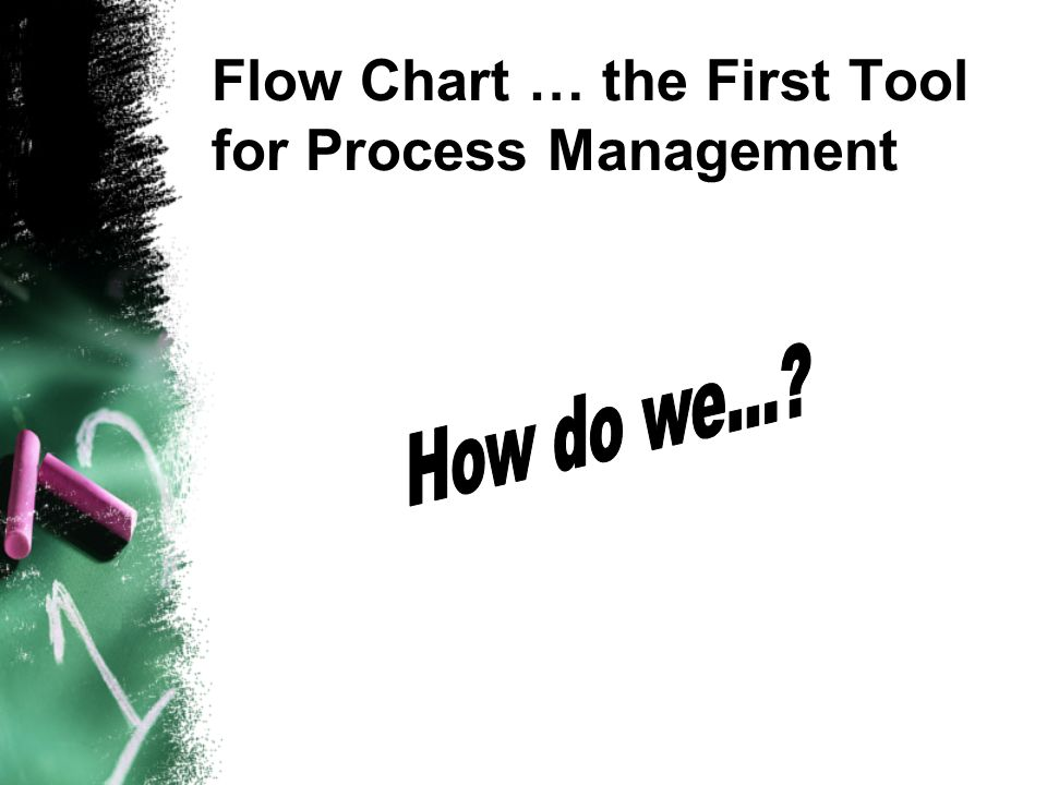 Flow Chart … the First Tool for Process Management