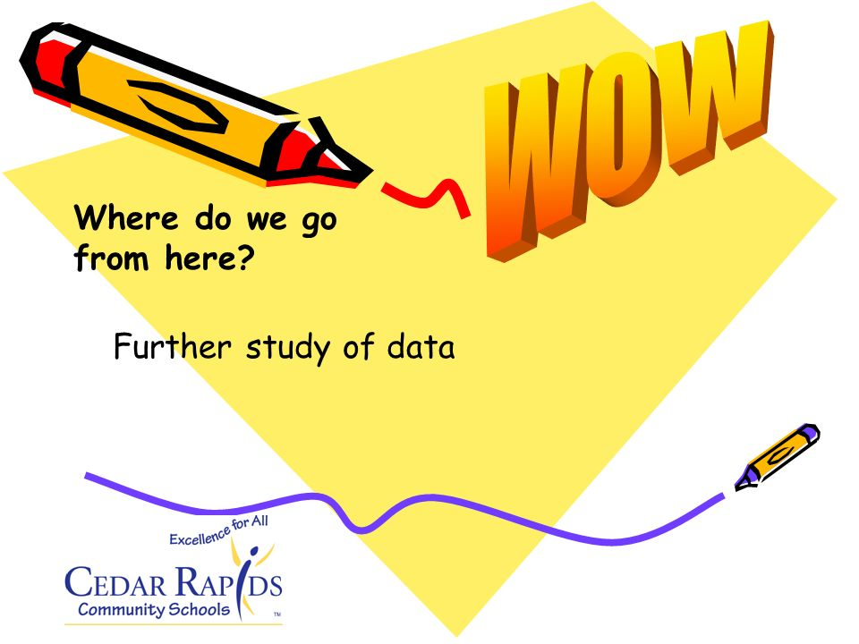 Further study of data Where do we go from here