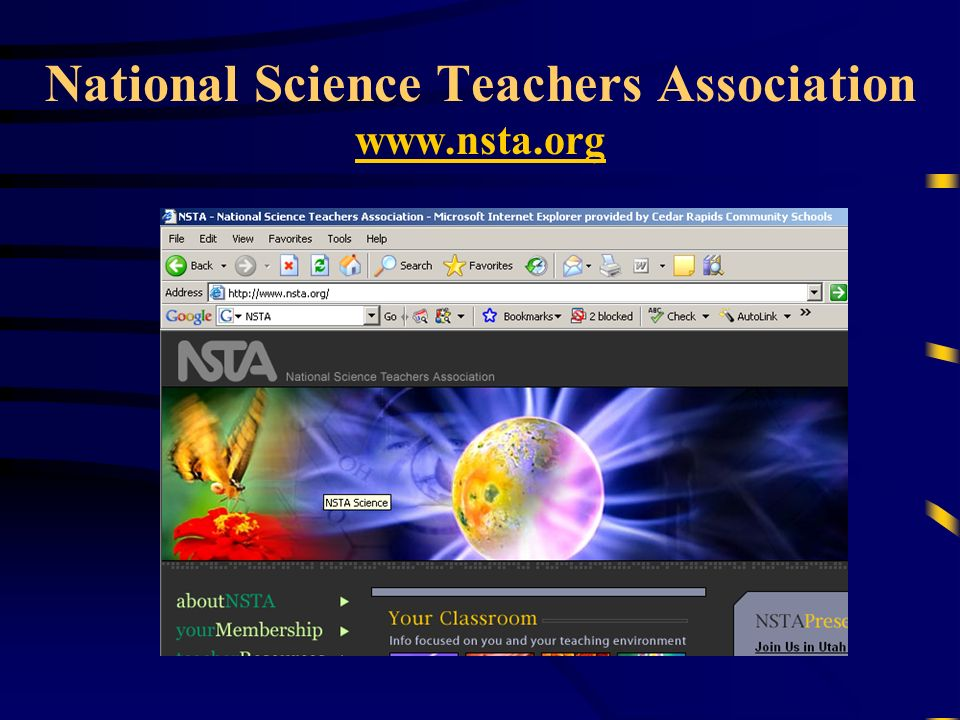 National Science Teachers Association www.nsta.org www.nsta.org