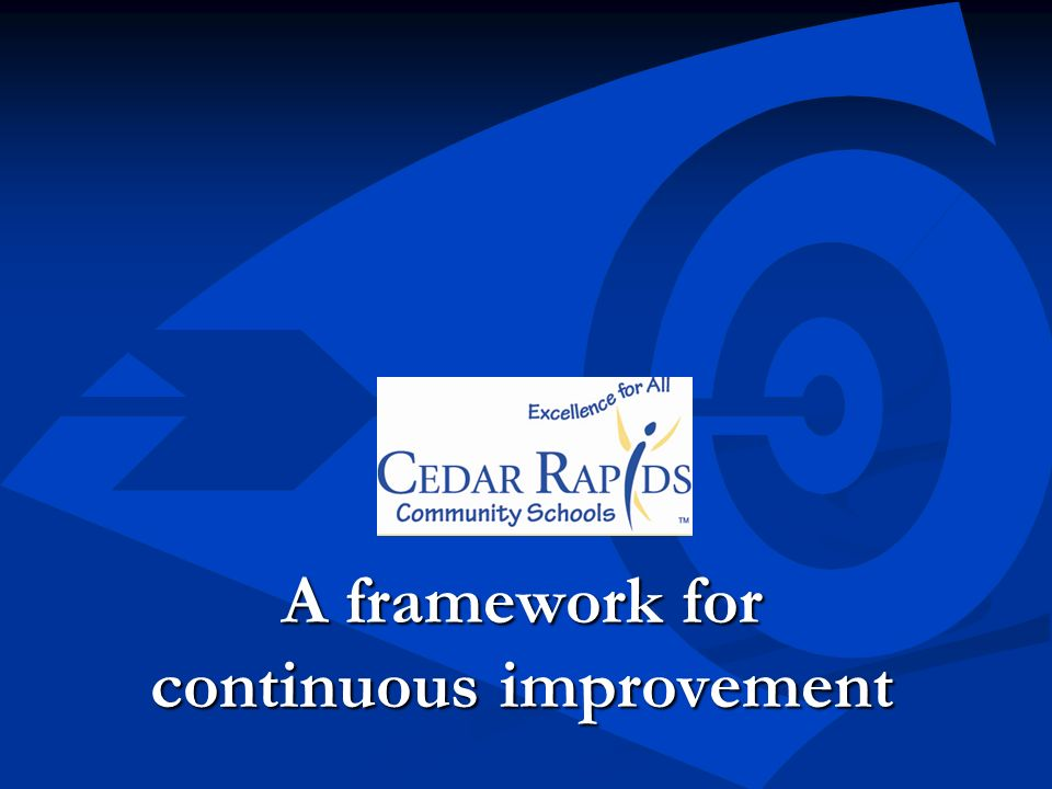 A framework for continuous improvement