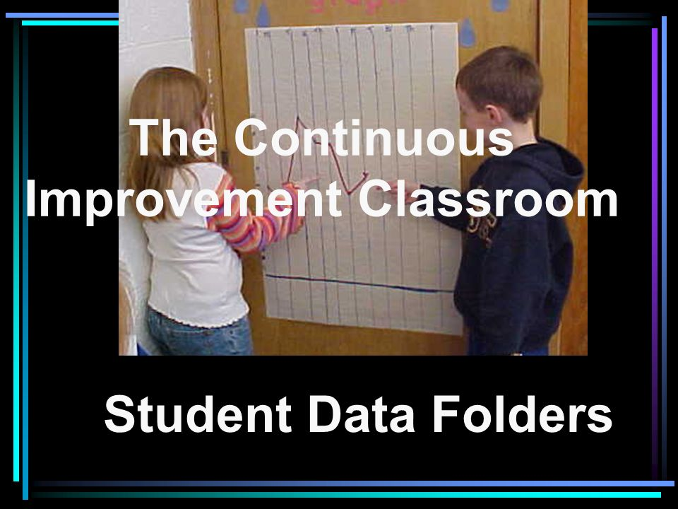 The Continuous Improvement Classroom Student Data Folders