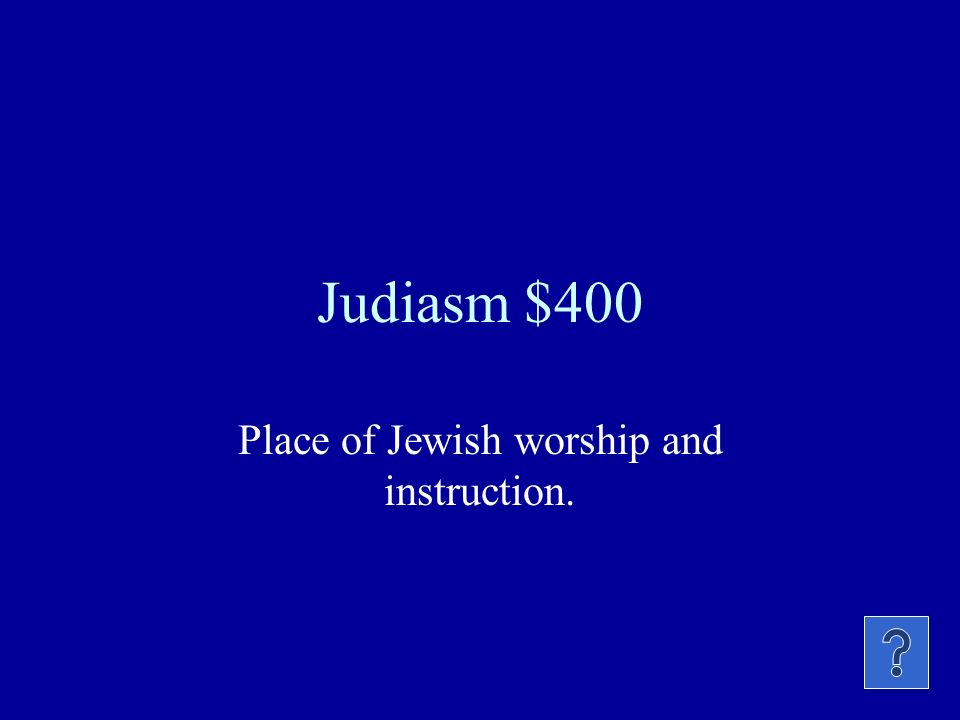 Judaism $300 Man who freed the Hebrews (Jews) from slavery in Egypt by taking them to Canaan (Palestine).