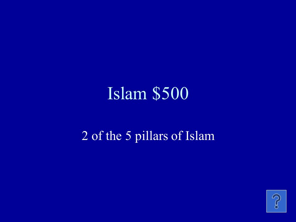 Islam $400 City faced when the 5 daily prayers are said.