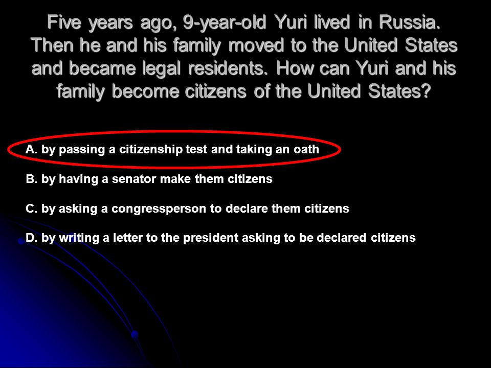 Five years ago, 9-year-old Yuri lived in Russia.