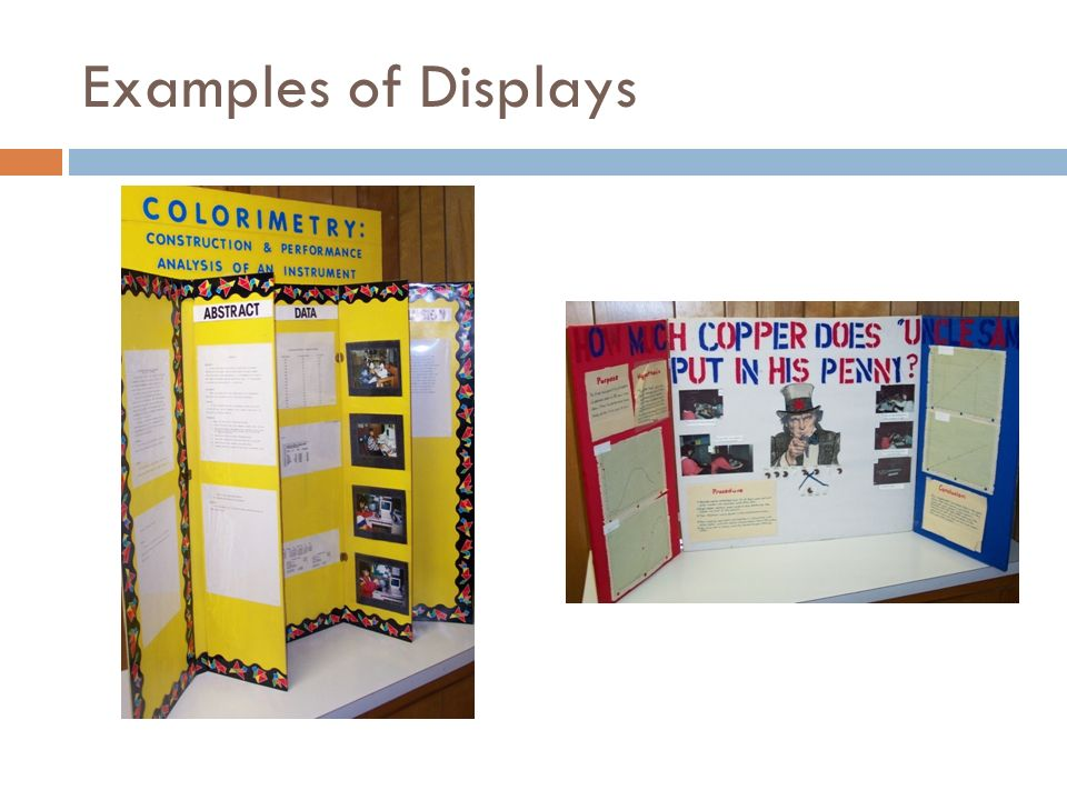 Examples of Displays