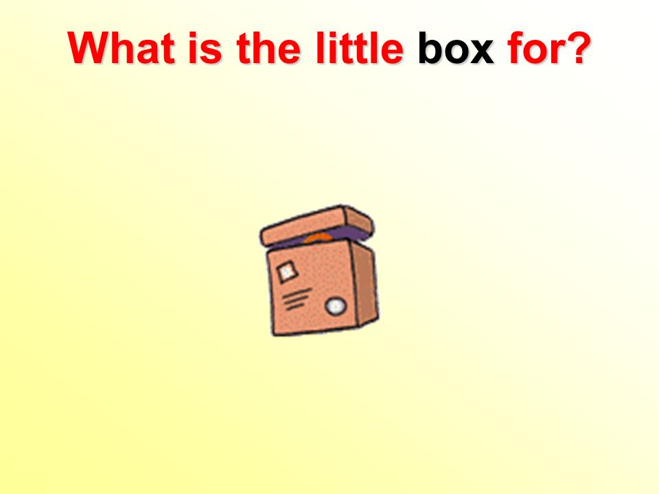 What is the little box for