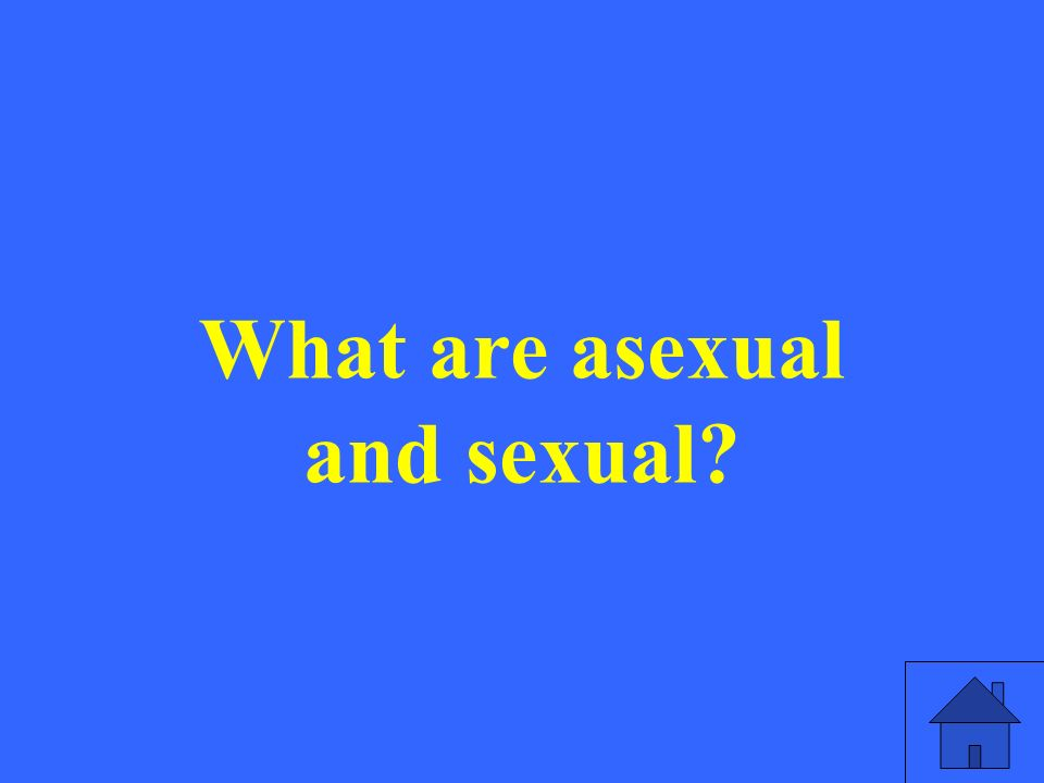 What are asexual and sexual