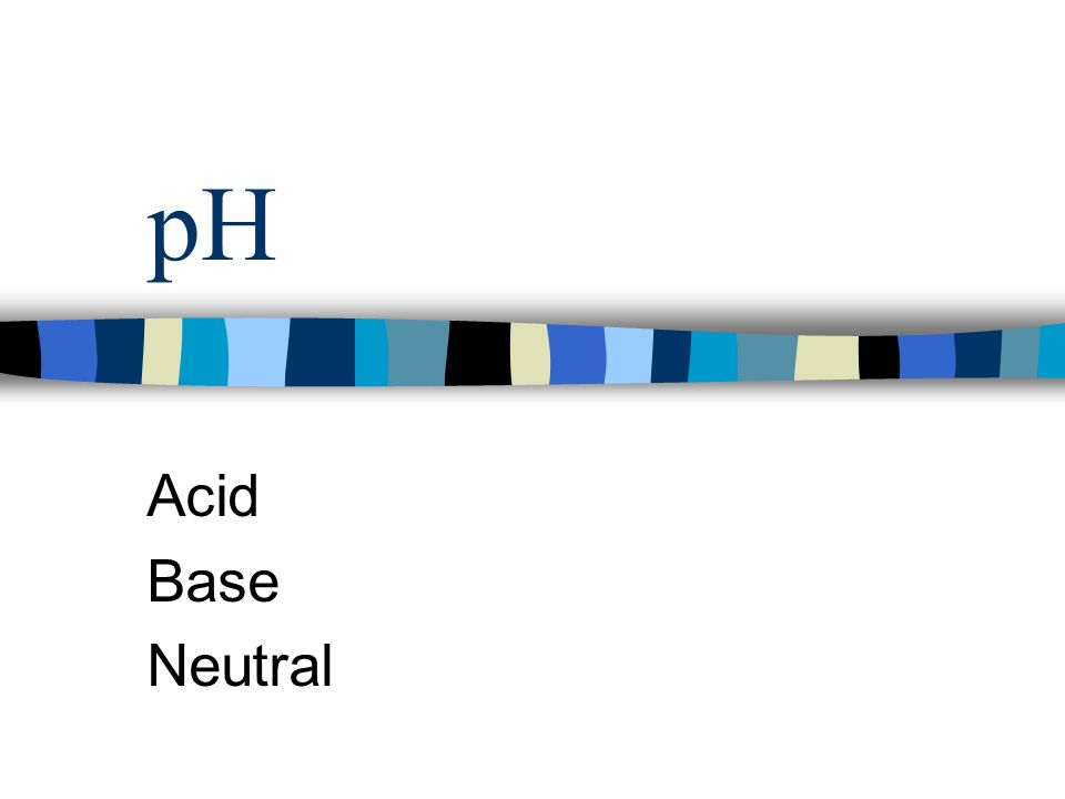 pH Acid Base Neutral