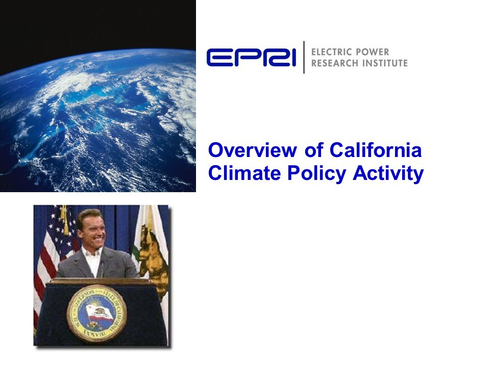 Overview of California Climate Policy Activity