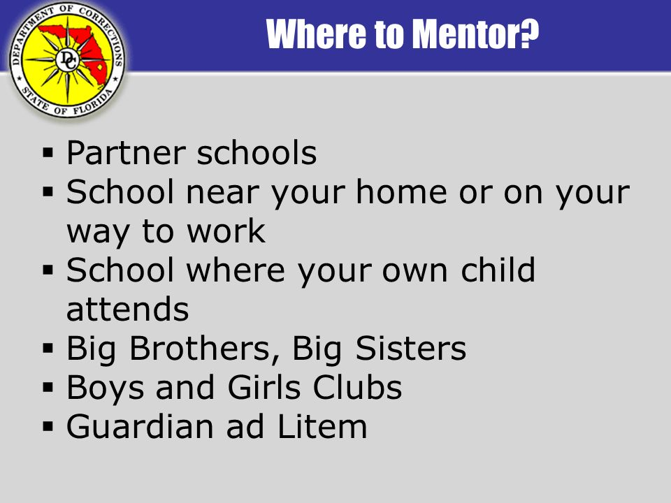 Where to Mentor.