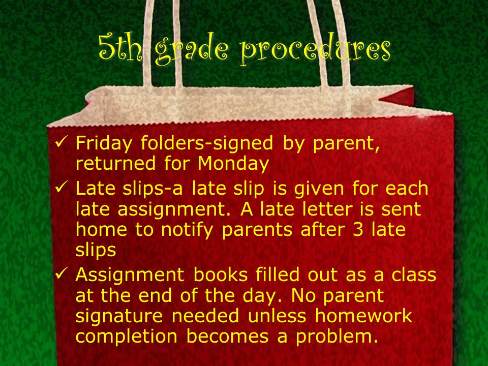 3 5th grade procedures
