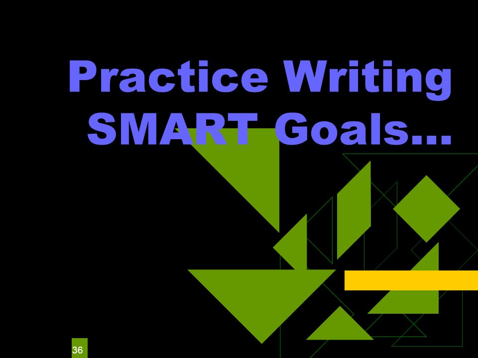 36 Practice Writing SMART Goals…