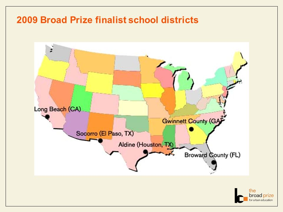 2009 Broad Prize finalist school districts