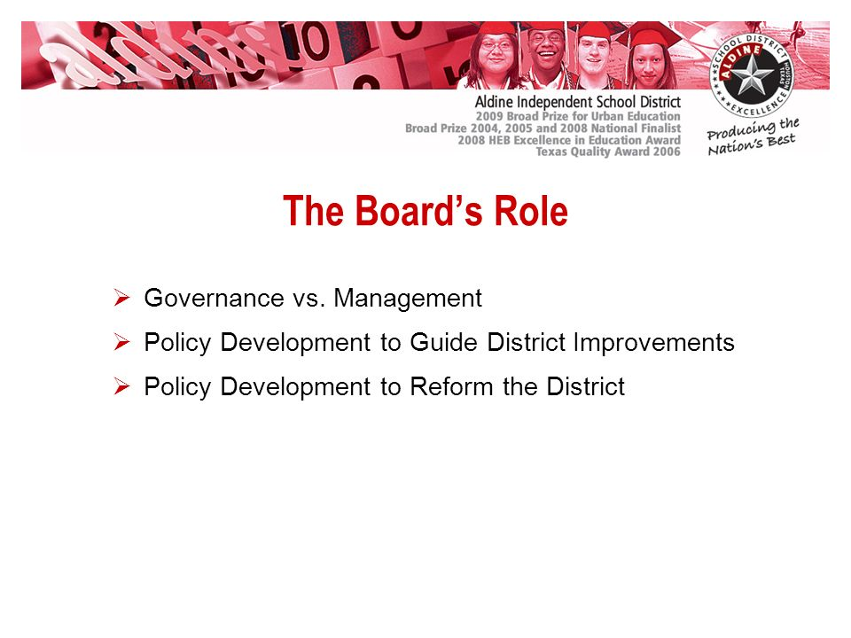 The Boards Role Governance vs.