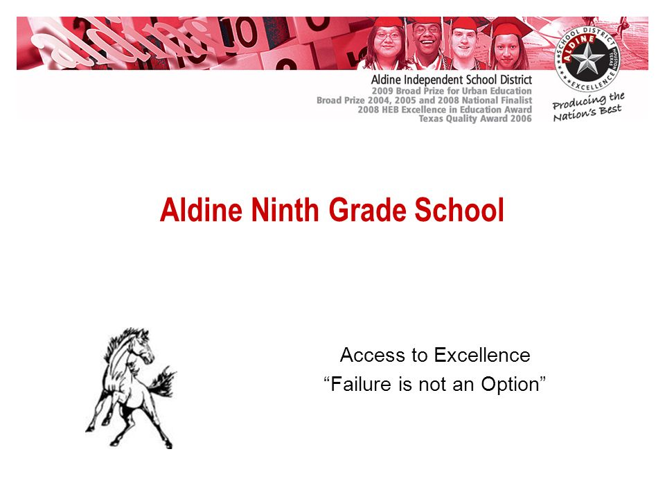 Aldine Ninth Grade School Access to Excellence Failure is not an Option