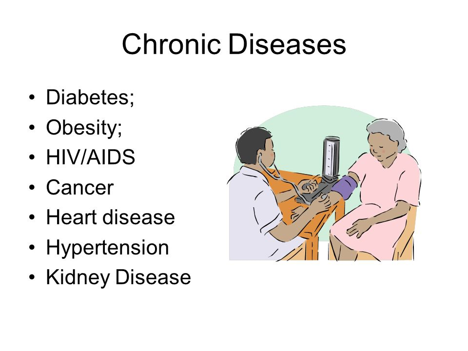 Chronic Diseases Diabetes; Obesity; HIV/AIDS Cancer Heart disease Hypertension Kidney Disease