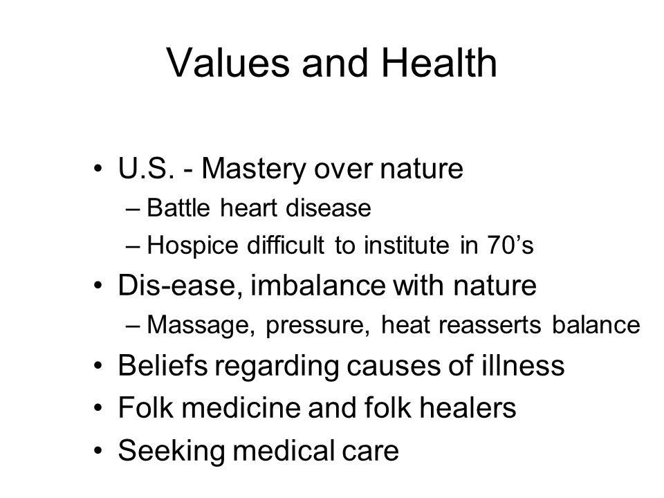 Values and Health U.S.