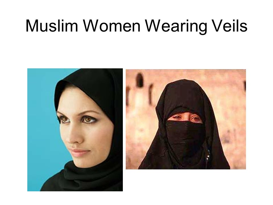 Muslim Women Wearing Veils