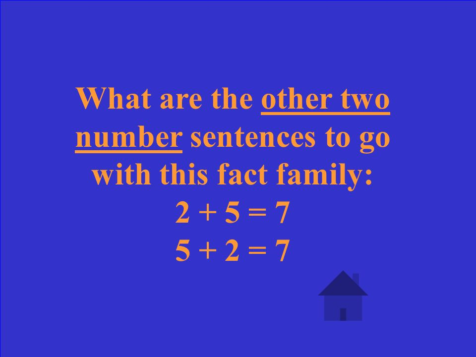 Create a fact family for 3, 5, and 8.