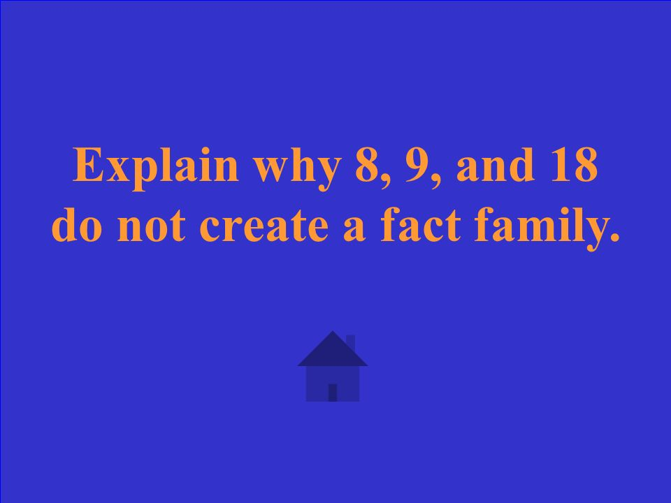 Explain why 6, 6, and 12 only have two number sentences for the fact family.