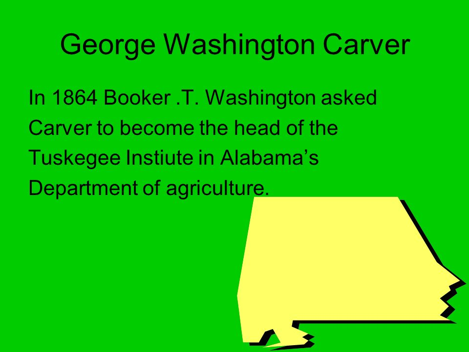 George Washington Carver In 1864 Booker.T.
