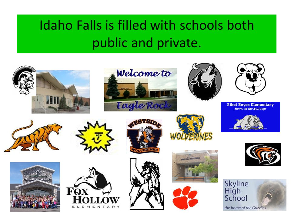 Idaho Falls is filled with schools both public and private.