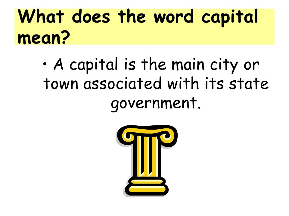 What does the word capital mean.