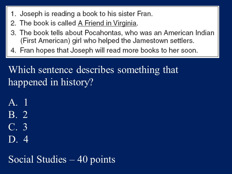 Answer: A. 2nd Social Studies – 20 points