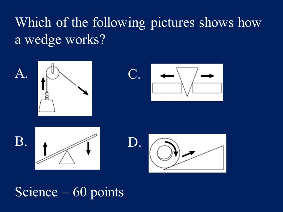 Answer: C. smaller parts that cannot be seen Science – 40 Points