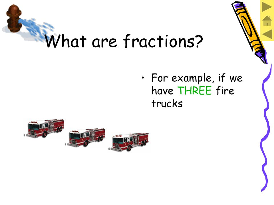 So, the way we say this as a fraction is: What are fractions.