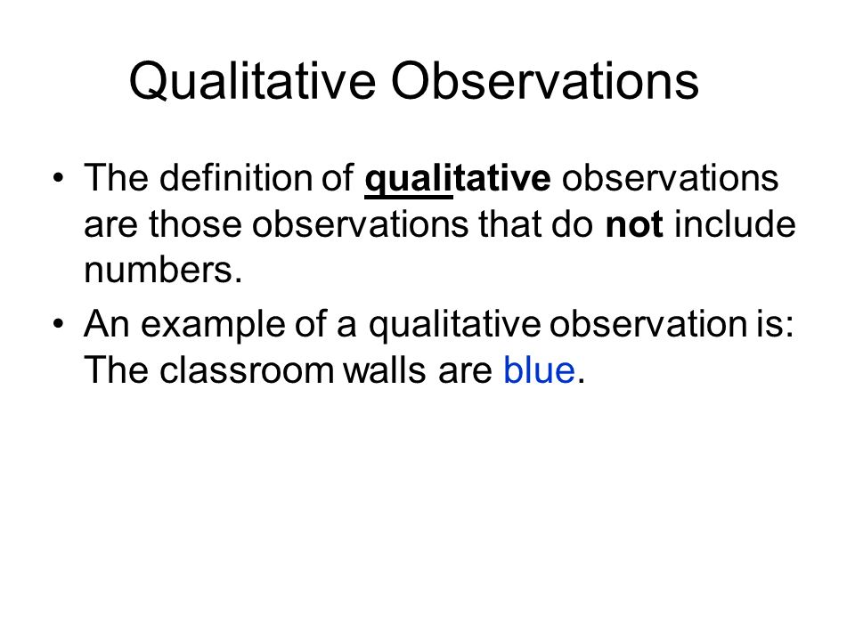 Definition of Observation An observation is a statement made by the use of your five senses.