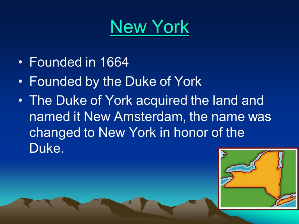New Jersey New Jersey Founded in 1664 Founded by Lord Berkeley and Sir George Carteret Settlers were promised representative government and freedom of religion
