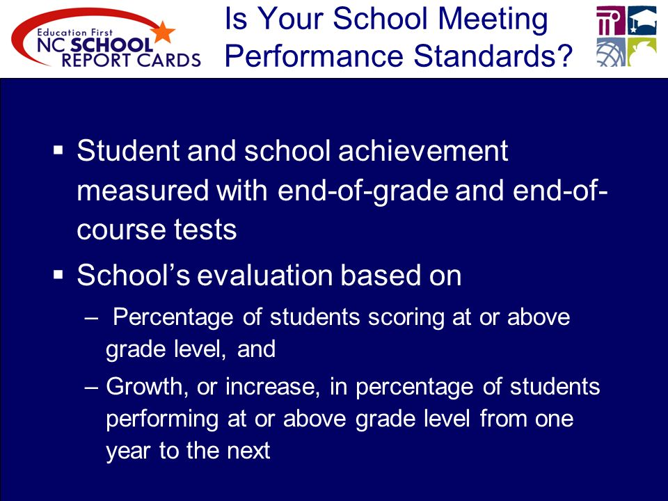 Is Your School Meeting Performance Standards.