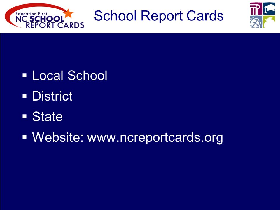 School Report Cards Local School District State Website:
