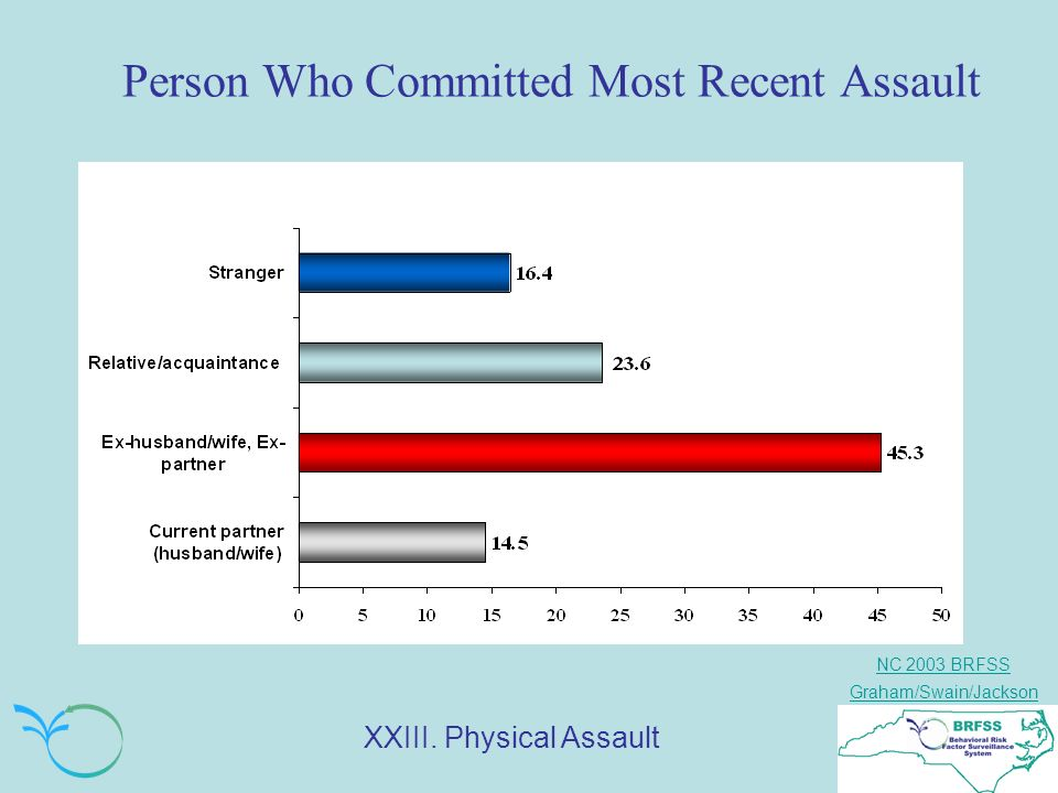 NC 2003 BRFSS Graham/Swain/Jackson Person Who Committed Most Recent Assault XXIII. Physical Assault