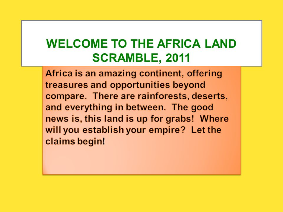 Marvelous Welcome To The Africa Land Scramble Country Tables Each Interior Design Ideas Gentotryabchikinfo