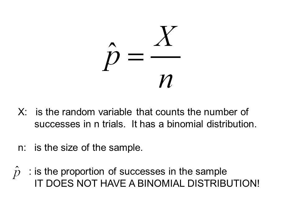 X: is the random variable that counts the number of successes in n trials.