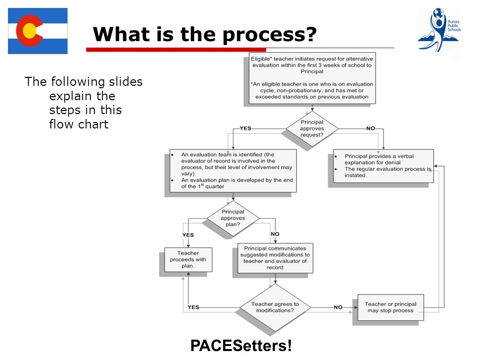 PACESetters! What is the process The following slides explain the steps in this flow chart
