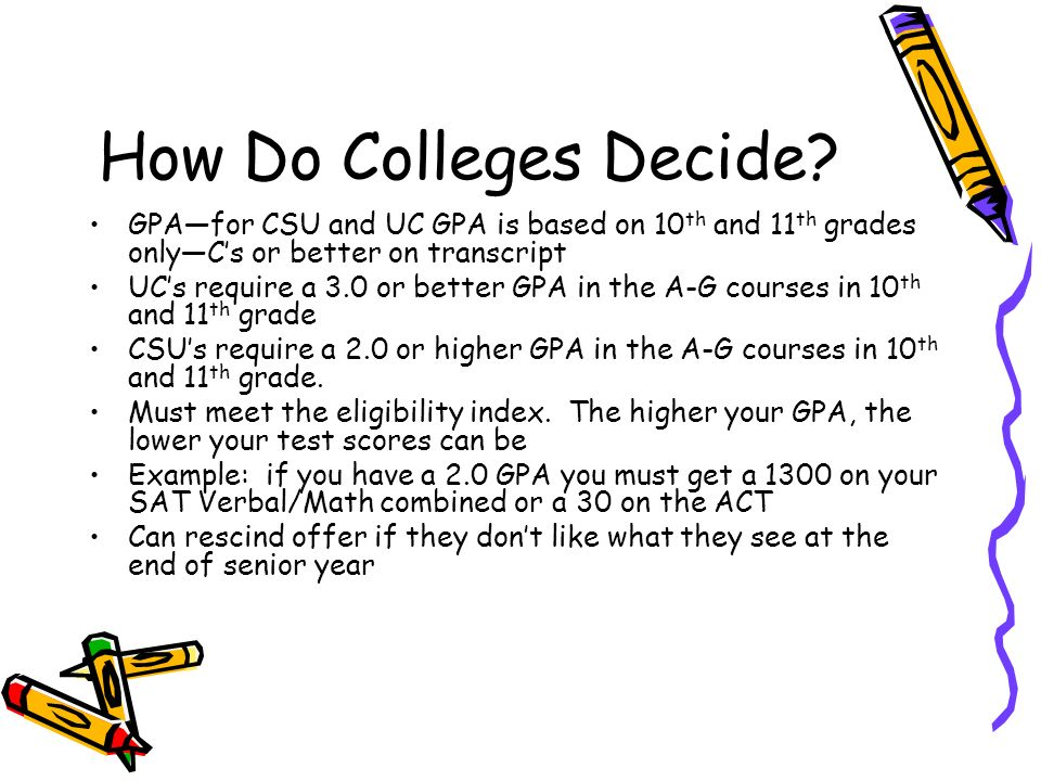 How Do Colleges Decide.