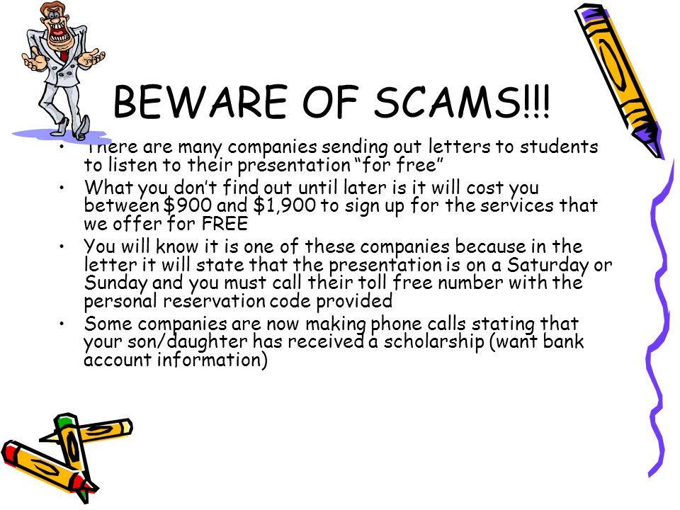 BEWARE OF SCAMS!!.