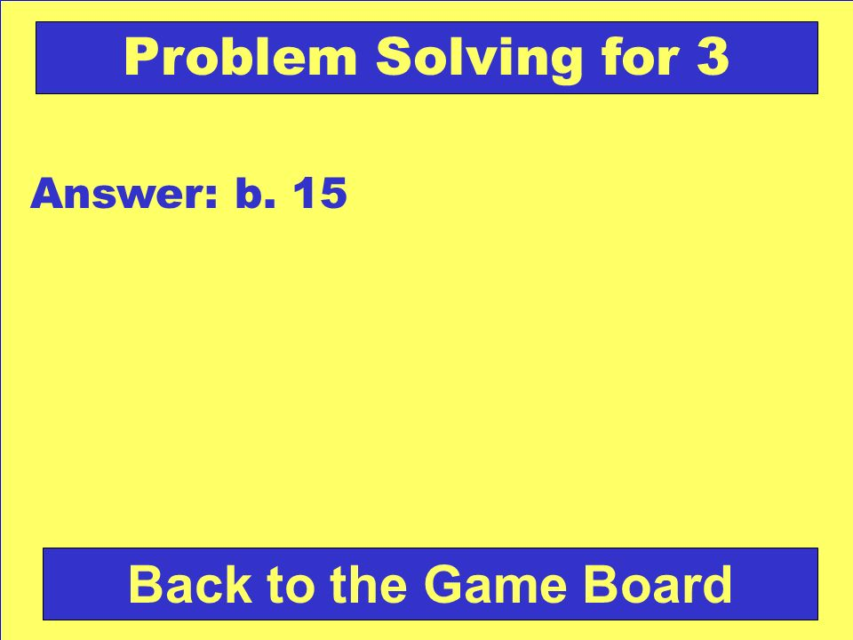 Check Your Answer Problem Solving for 3 Joe had 12 books.