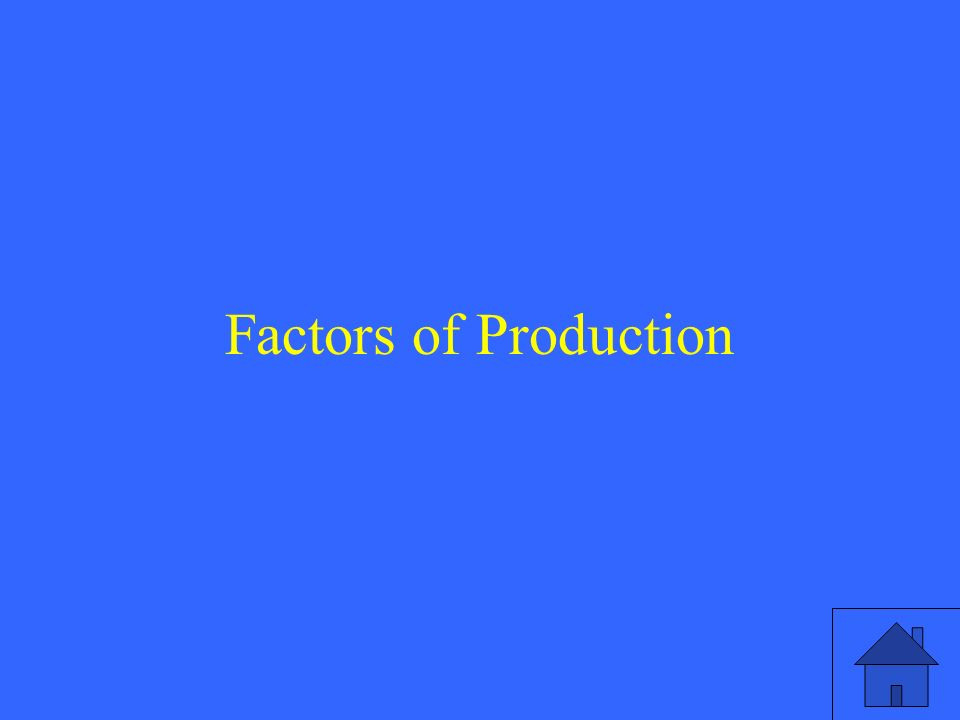 3 Factors of Production