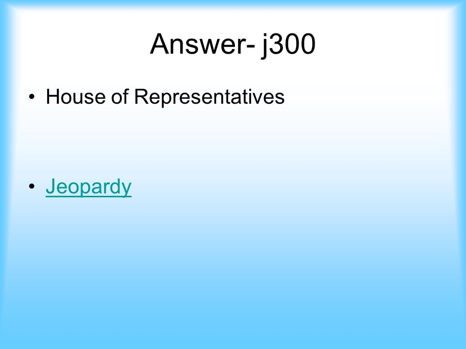 Johnson- 300 This group charges the president in an impeachment case jeopardy