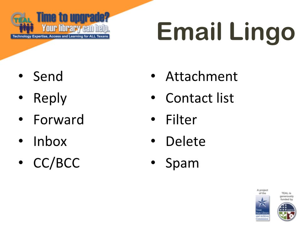 Email Lingo Send Reply Forward Inbox CC/BCC Attachment Contact list Filter Delete Spam