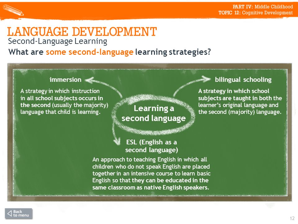 What are some second-language learning strategies.