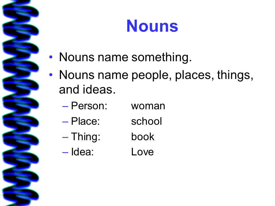 Nouns Sharing Stories Lesson 1