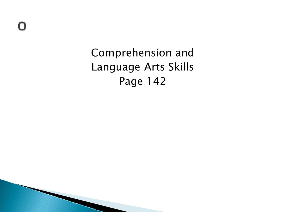 Comprehension and Language Arts Skills Page 142