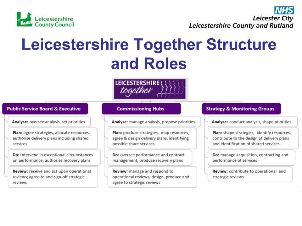 Leicestershire Together Structure and Roles