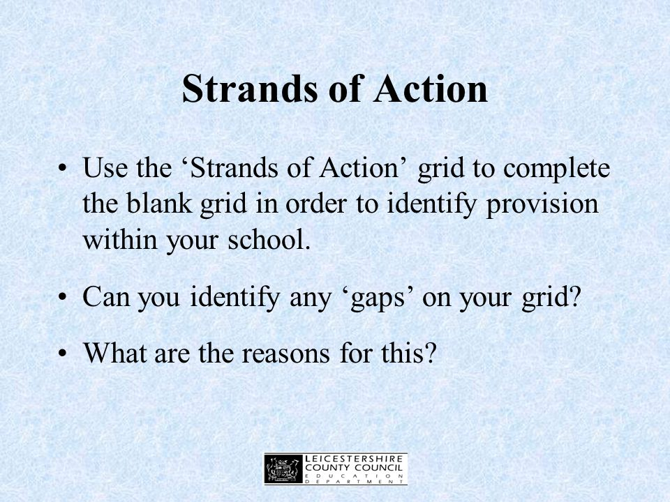 Strands of Action